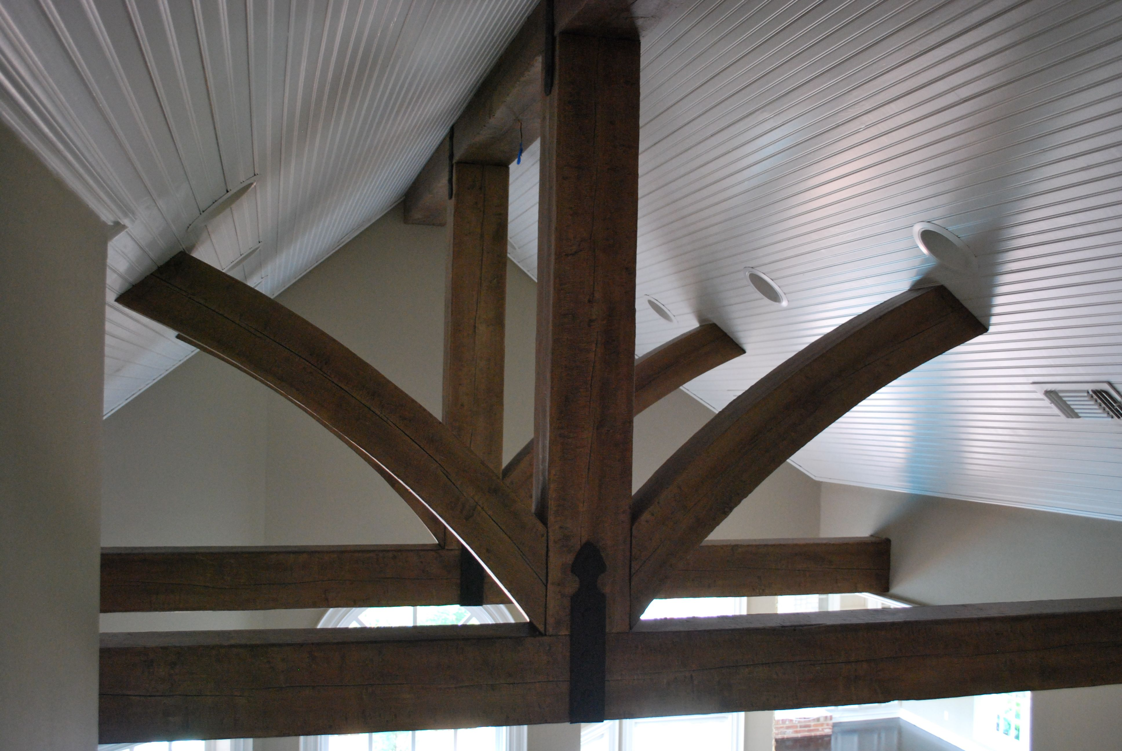 Distressed Wood Ceiling Fan Rustic Distressed Wood Truss Beams And Trusses Wood