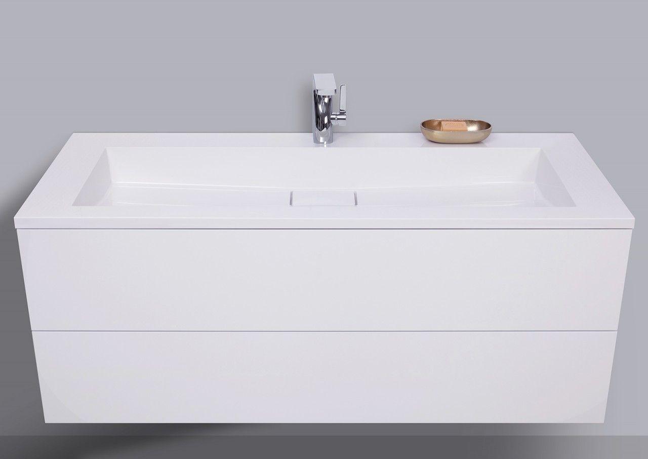 Badmöbel Set grifflos 120 cm, Waschtisch mit Unterschrank Evermite ...