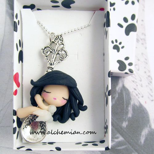1 lucky fairy with spoon ooak necklace made in italy. €25,00, via Etsy.