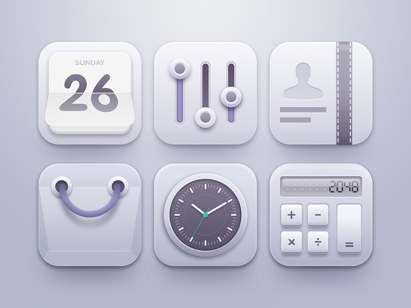 Clean Icons App icon design, Icon design, App icon
