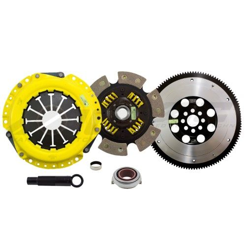 ACT Heavy Duty Sprung 6 Pad Clutch + Flywheel For 02-06
