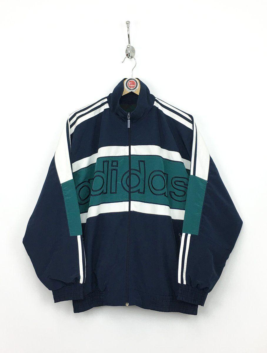 Adidas vintage jacket   สไตล์เสื้อผ้า, แฟชั่นยุค 90, เสื้อ