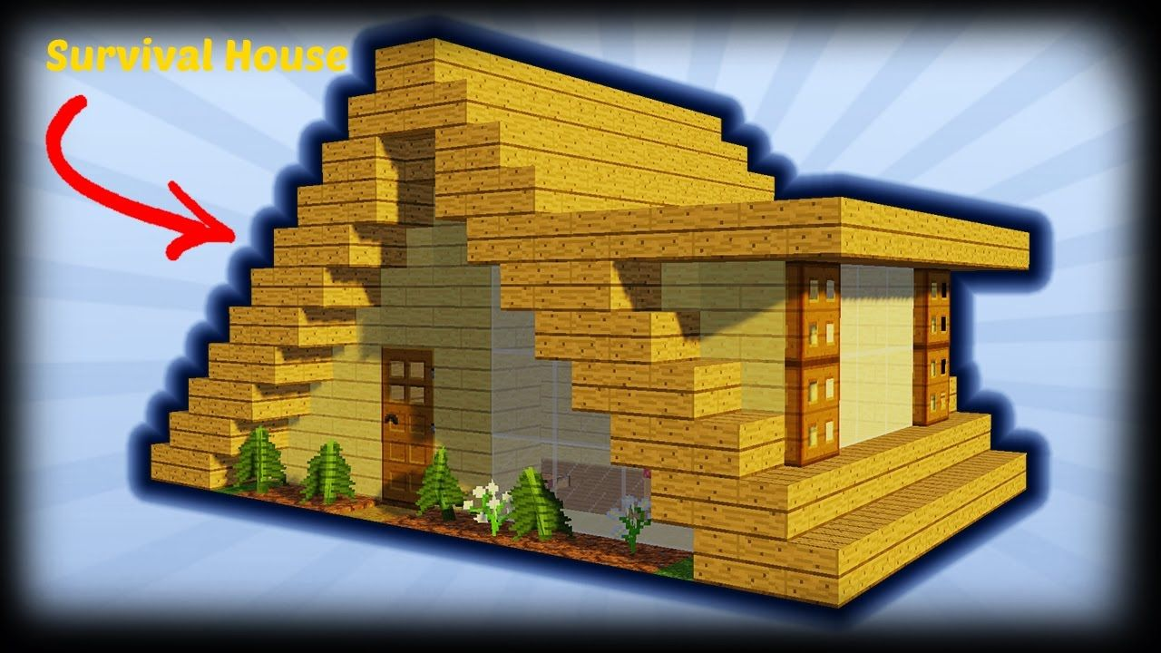 Minecraft How To Build A Small A Frame House Tutorial Easy