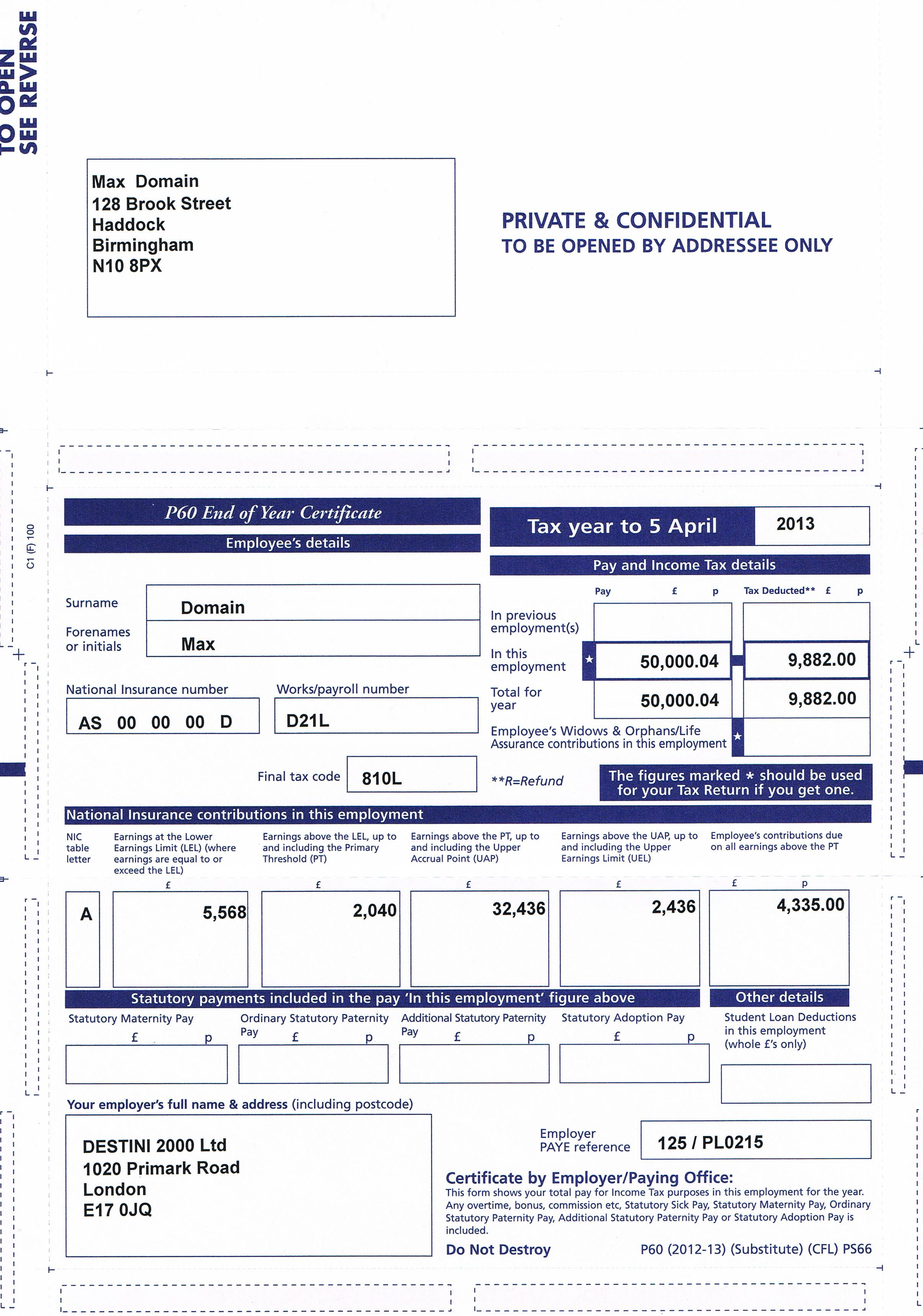 Order Your Lost Or Damage Payslips Online P60 Have You Lost Your