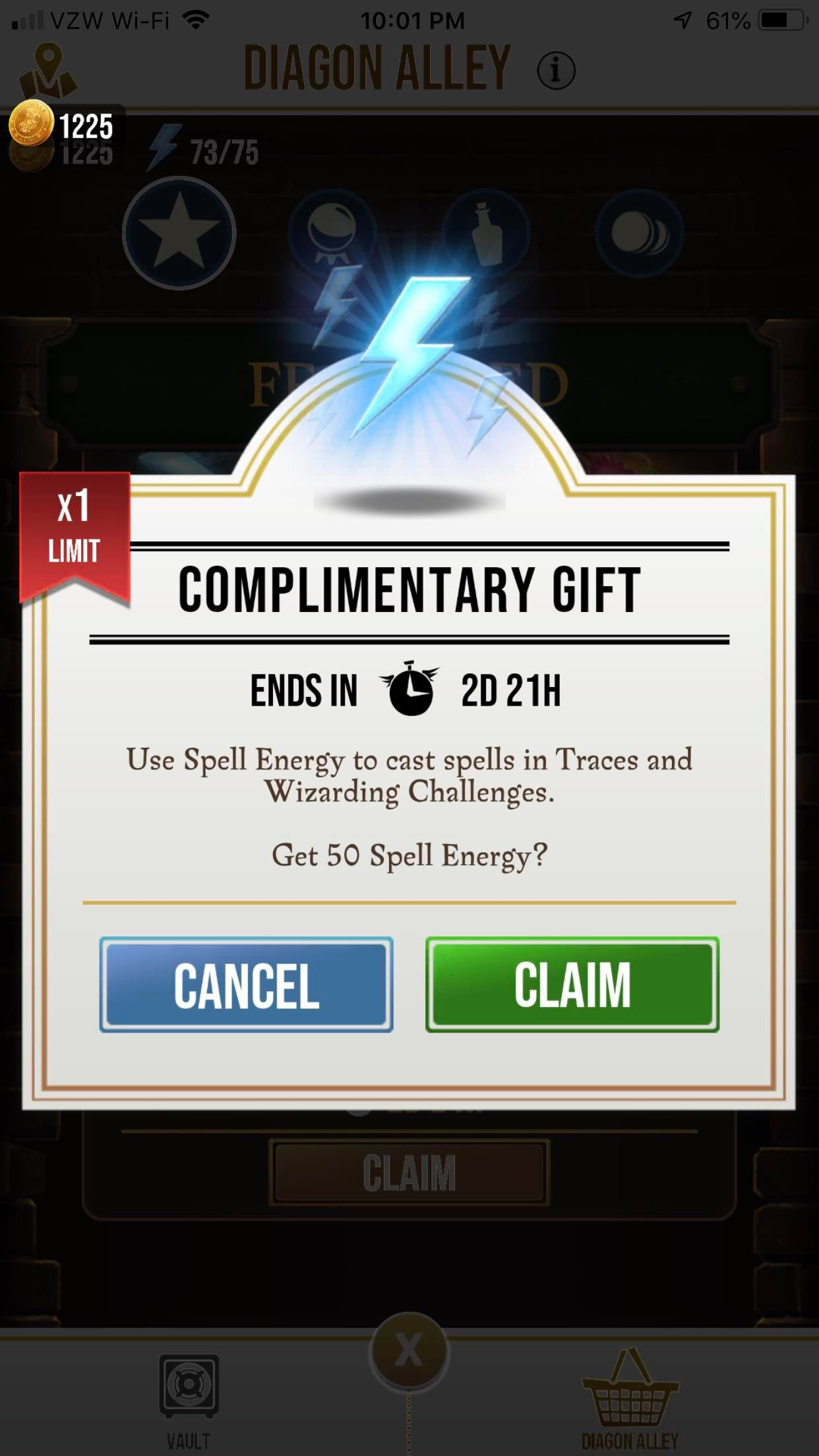 Complimentary Gift Of Spell Energy In Diagon Alley Alley Complimentary Diagon Energy Gift Spell Diagon Alley Spelling Complimentary