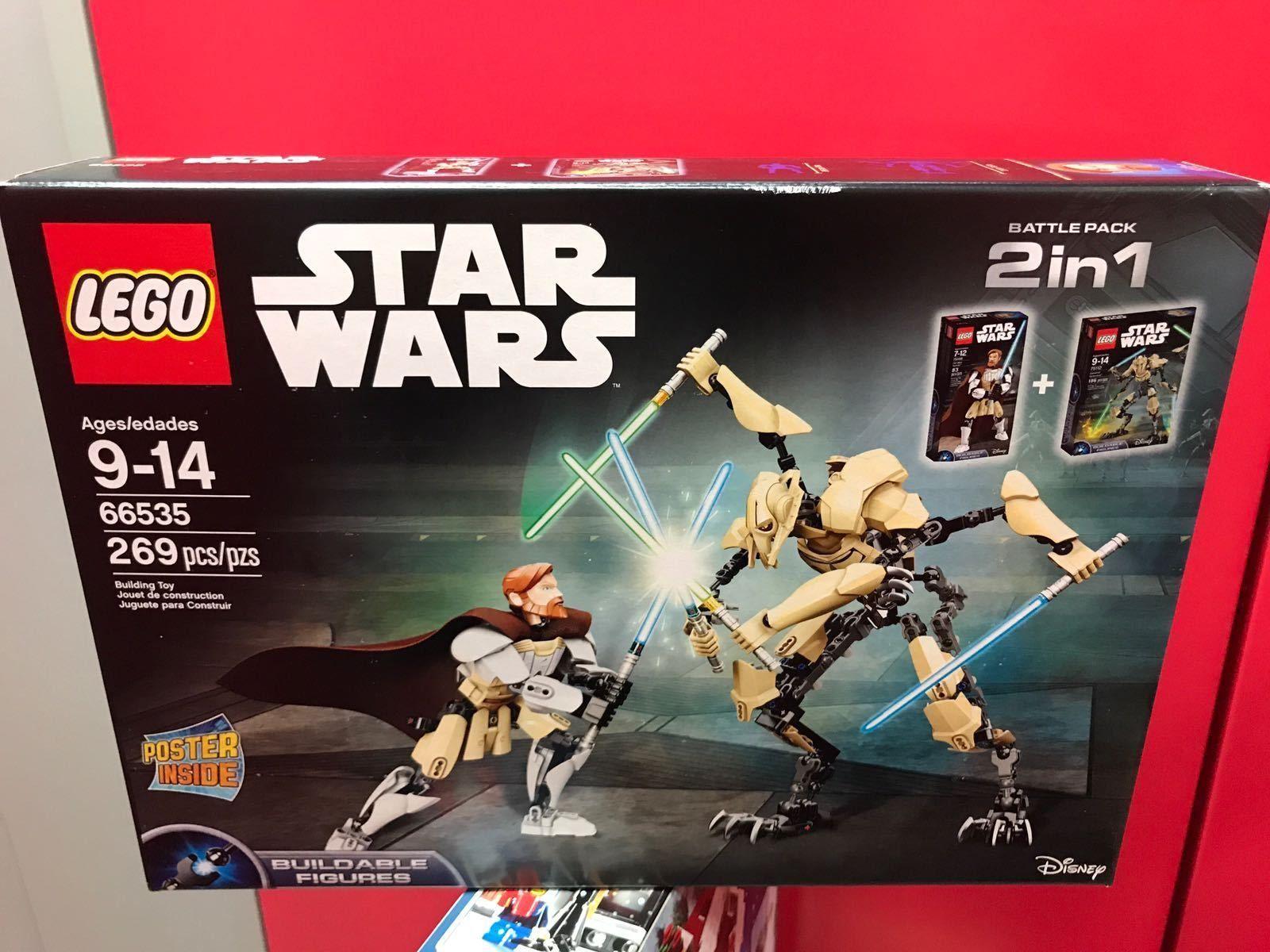 Lego Star Wars 66535 Obi Wan Kenobi General Grievous 2 In 1 75109 75112 Lego Star Wars Star Wars 2 Star Wars