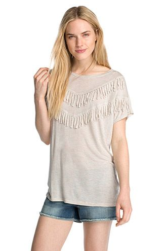 Esprit / Camiseta con flecos