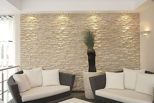 Parete Soggiorno Con Pietra Vista : How to install interior stone veneer video diy for home
