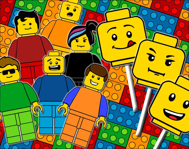 Lego Photo Props Lego Party Supplies Lego Mask Lego Party Printable ...