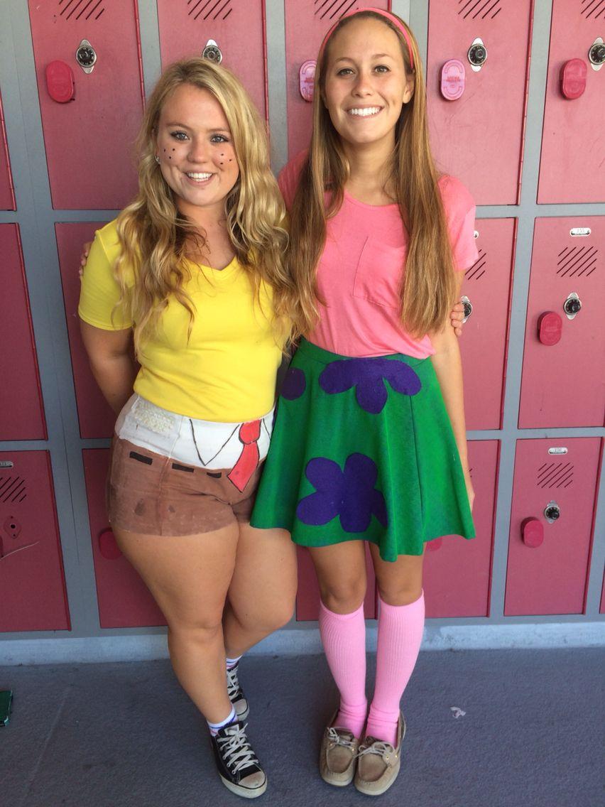 spongebob and patrick costume diy cute halloween