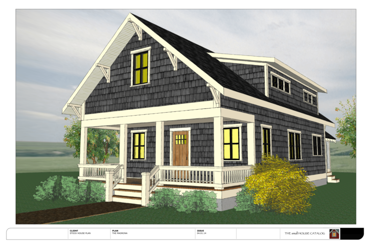 No 11 the madrona smallest house for House plans with shed dormers