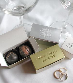 Cocoa Mill Chocolatier Chocolate Wedding Favors Truffles