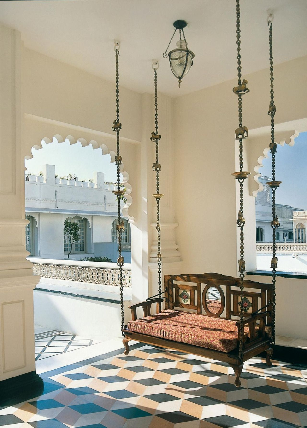 Tinamotta Palace Interior Indian Interiors Indian Homes #wooden #swing #for #living #room #india