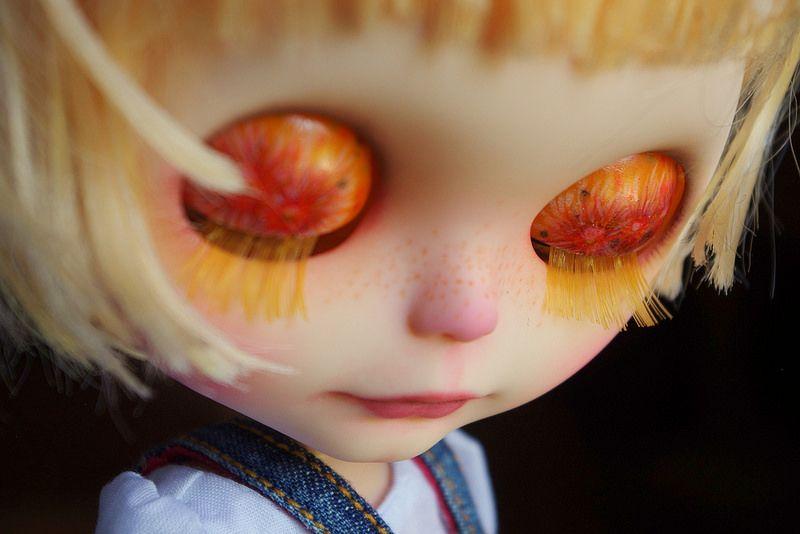Millie eyelids and blonde eyelashes