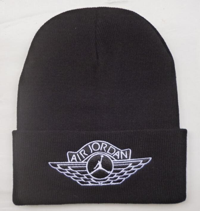 Men s   Women s Nike Air Jordan Jumpman Air Jordan I Retro Wings Logo Cuff  Beanie Hat - Black 0d046d952b