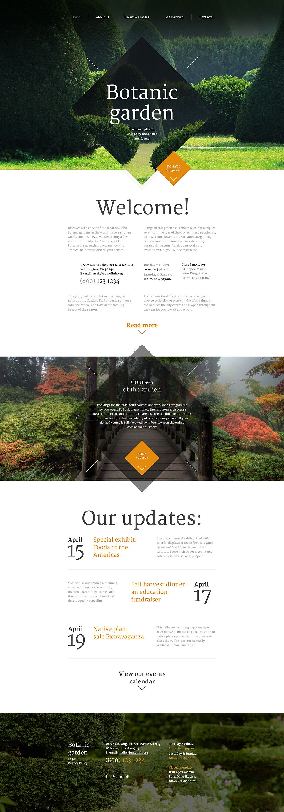 Garden Design Website Ideas Botanic Garden Website Template  Landscape Designs Landscaping .