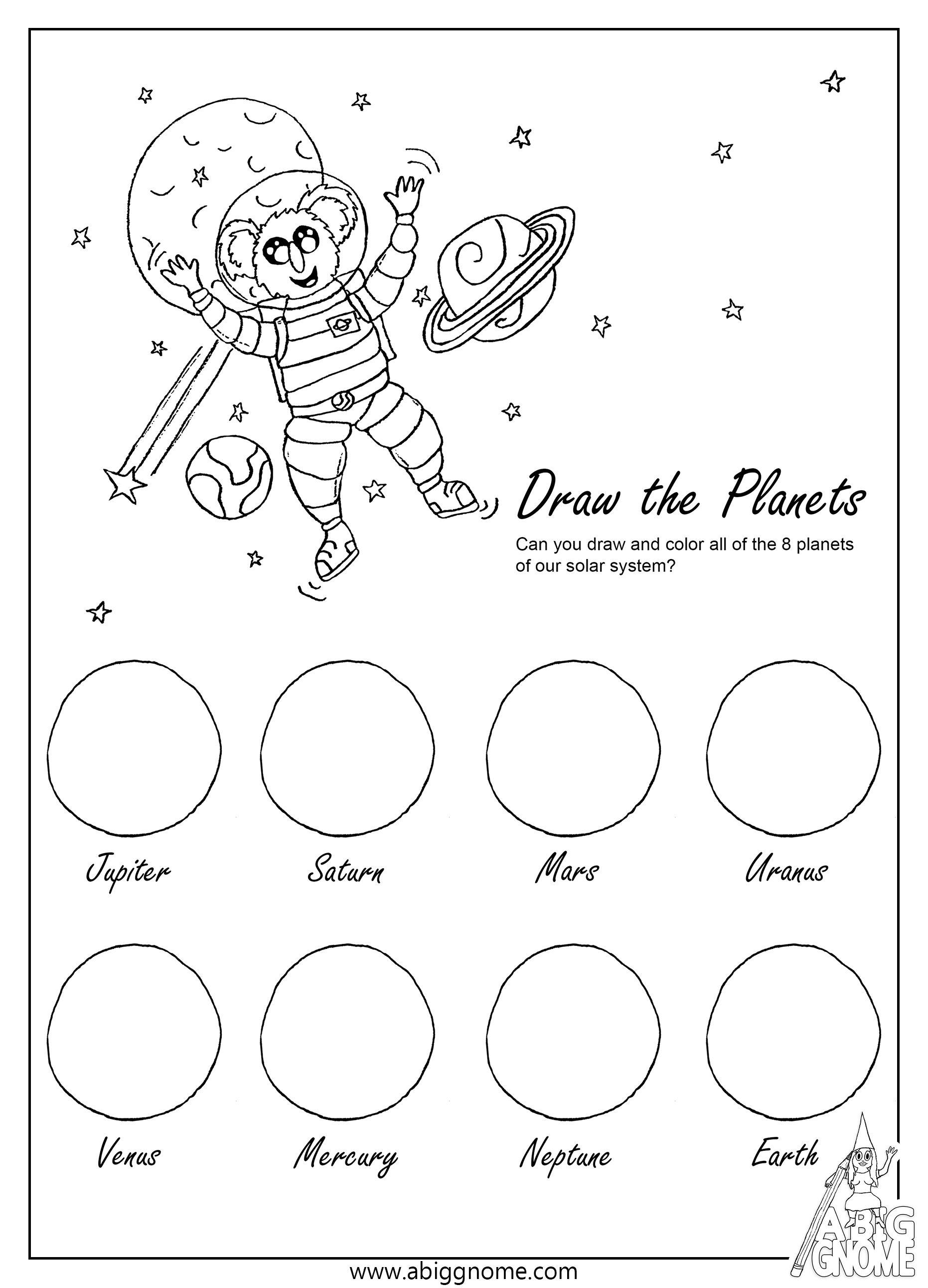 Educatief Kleurplaten Printen.Kleurplaten Planets Activities Mission To Mars 8 Planets