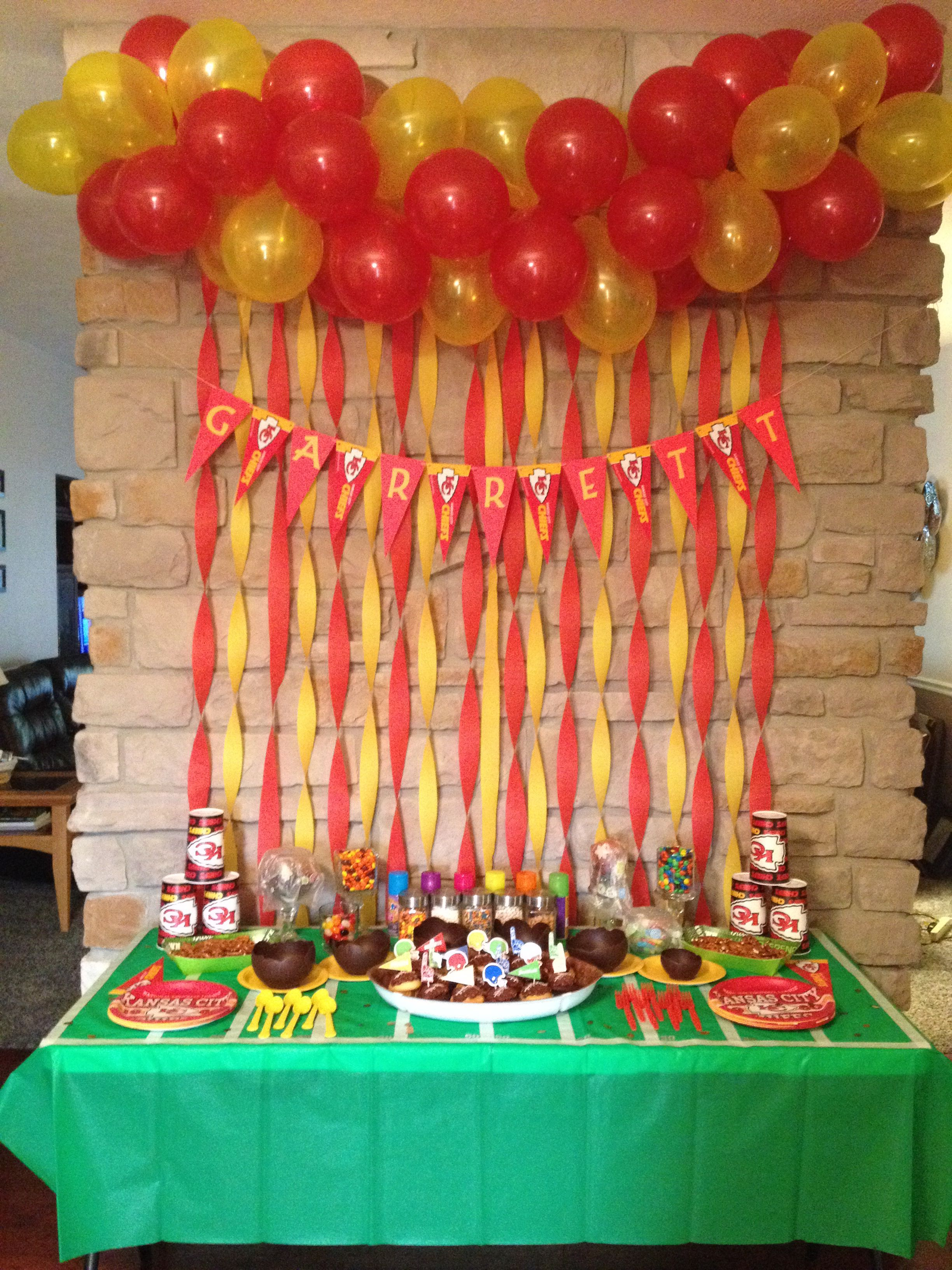 Kansas City Chiefs Birthday Party