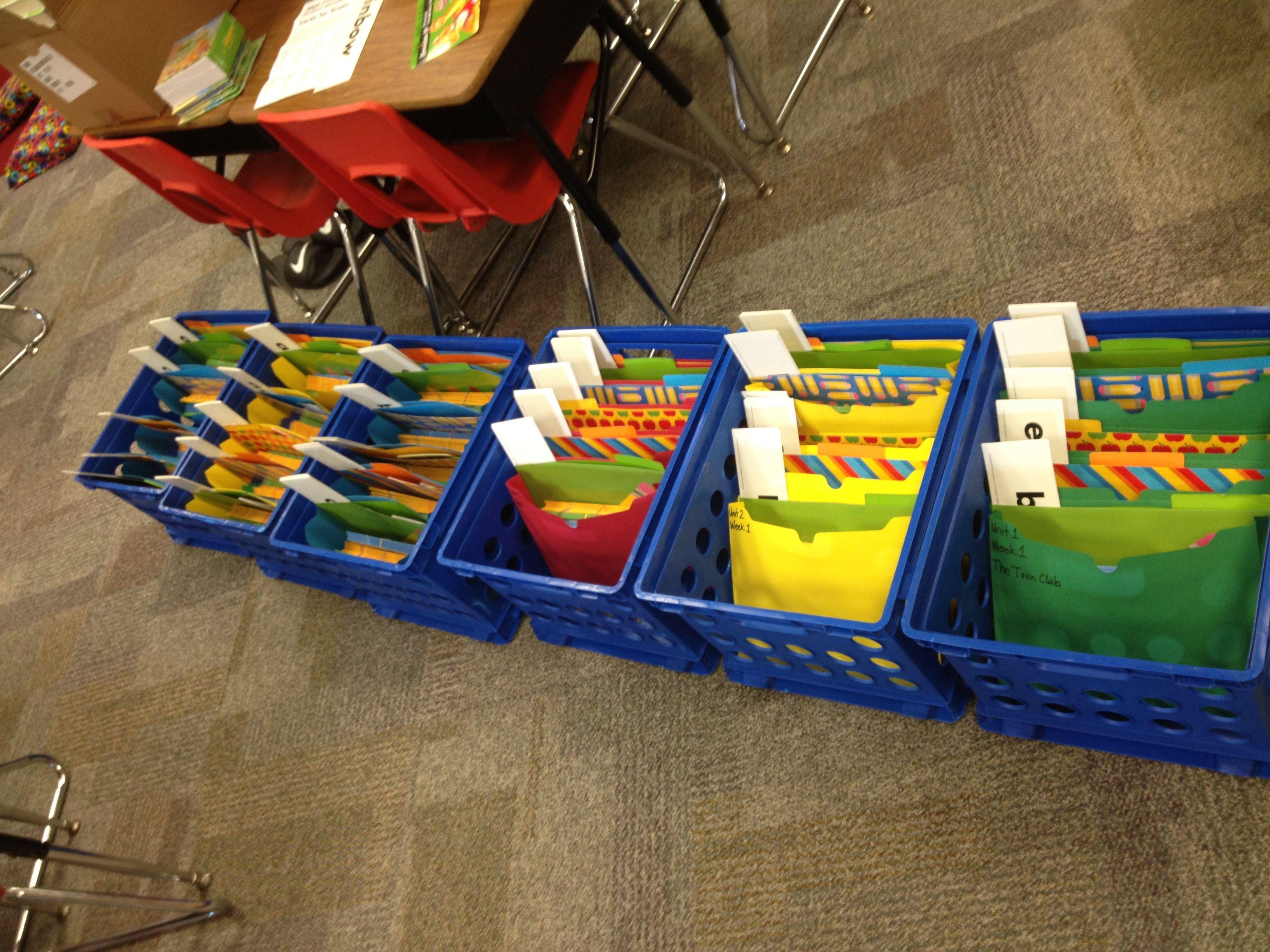 Organizing Reading Street Materials Cordion