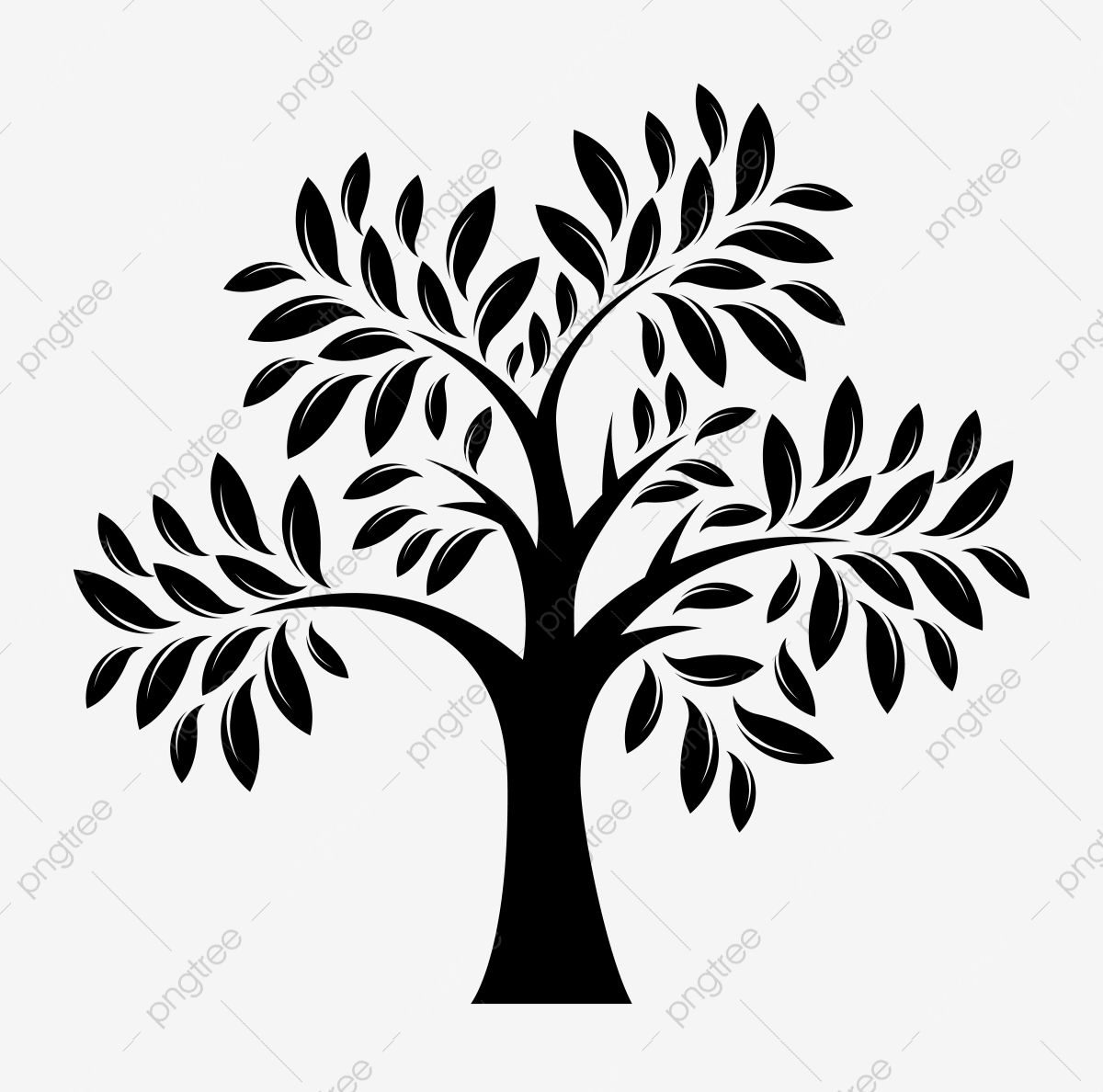 Download This Black Tree Silhouette Clipart In Vector Tree Clipart Tree Silhouette Tree Silhoutte Transparent Png Or Vec Tree Silhouette Black Tree Clip Art
