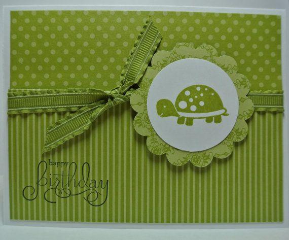 Handmade Happy Birthday Lucky Limeade Turtle by BeingACreativeMom, $2.20