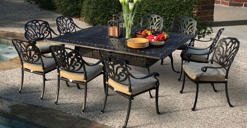 ... Combines The Beauty Of Itu0027s Ornate Frame Details With The Durability Of  Rustproof Cast Aluminum Patio Furniture. Description From Todayspatio.com.