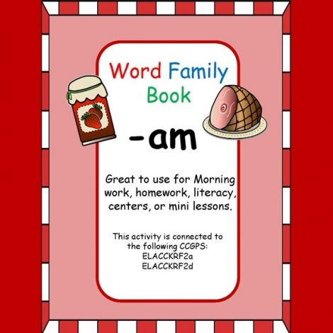 Am word family book word families are great for rhyming and making am word family book word families are great for rhyming and making words with manipulative stopboris Image collections