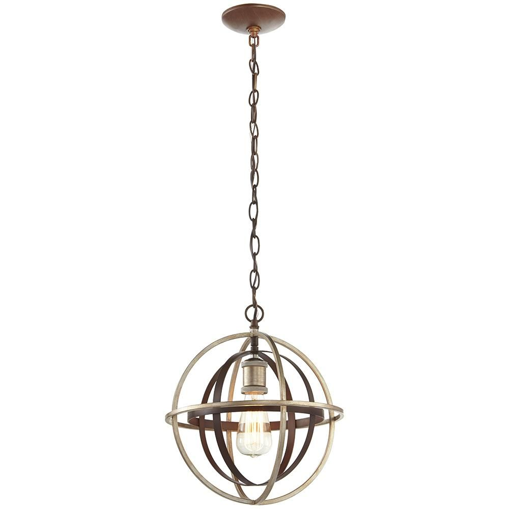 Home Decorators Collection 1 Light Bronze And Champagne