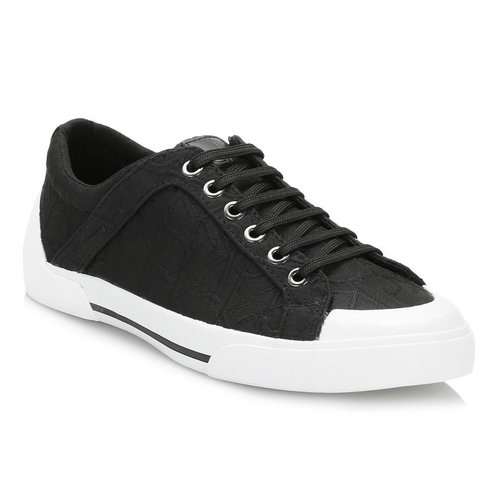 Calvin Klein Jeans Womens Black Giselle Jacquard Trainers