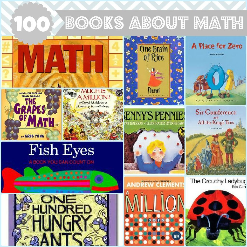 100 Books About Math For Kids Pinterest Bright Baby First Numbers Great List Fiction And Non Covers Counting Shapes Money Time Addition Multiplication Division Geometry