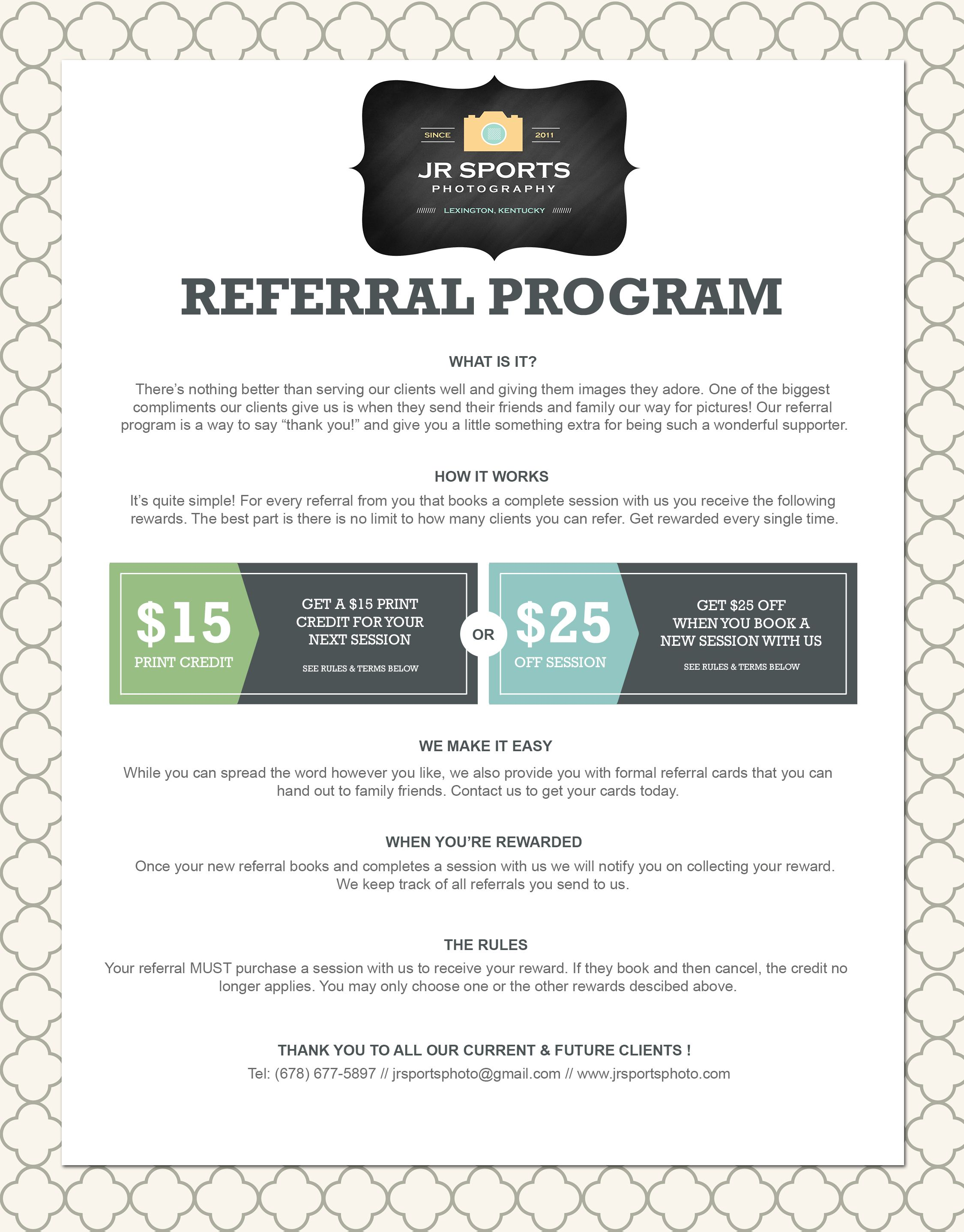 Photographer Marketing Template Client Referral Program  Savvy
