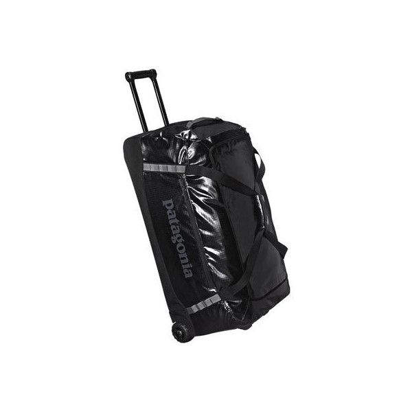 fbe2119a5efa Patagonia Black Hole Wheeled Duffel 120L - Black (495 NZD) ❤ liked on  Polyvore featuring bags