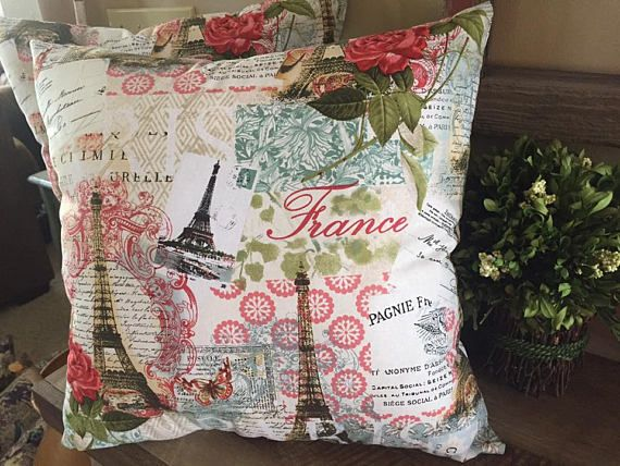 Paris Themed PillowsFranceEiffel TowerHandmadeDecorative Custom Paris Themed Decorative Pillows