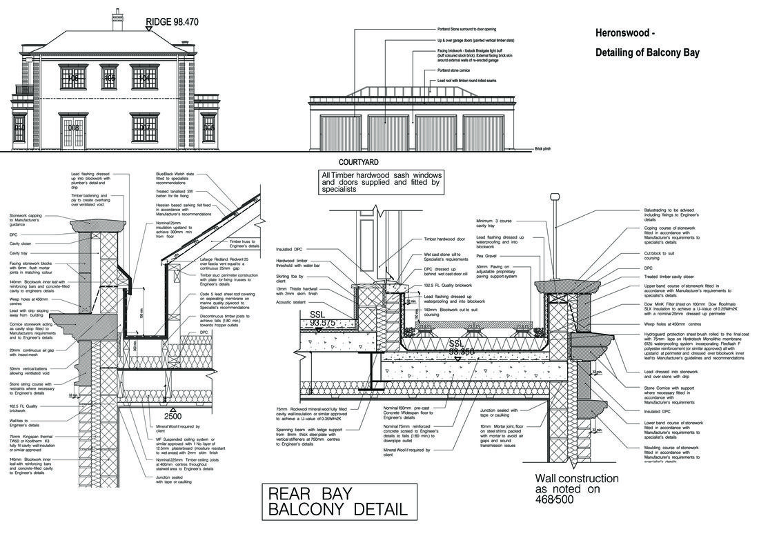 Building Regulations details for a new build in