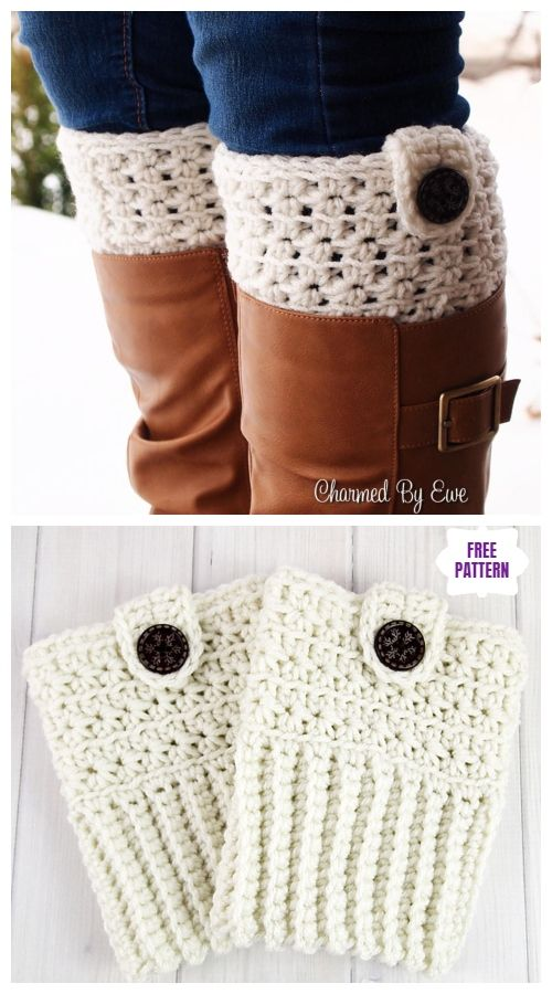 DIY Free Crochet Boot Cuffs Patterns