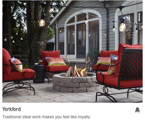 Fire Pit Patio Style Patio Concrete Patio
