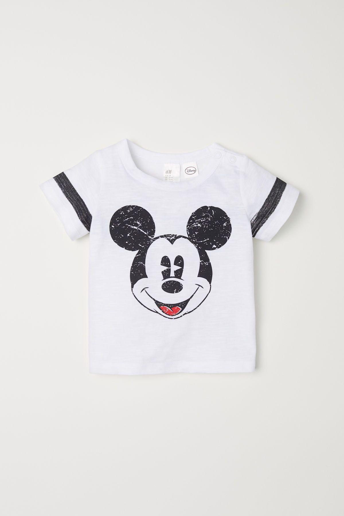 cbd9918ef Camiseta con motivo estampado | Blanco/Mickey Mouse | NIÑOS | H&M MX ...