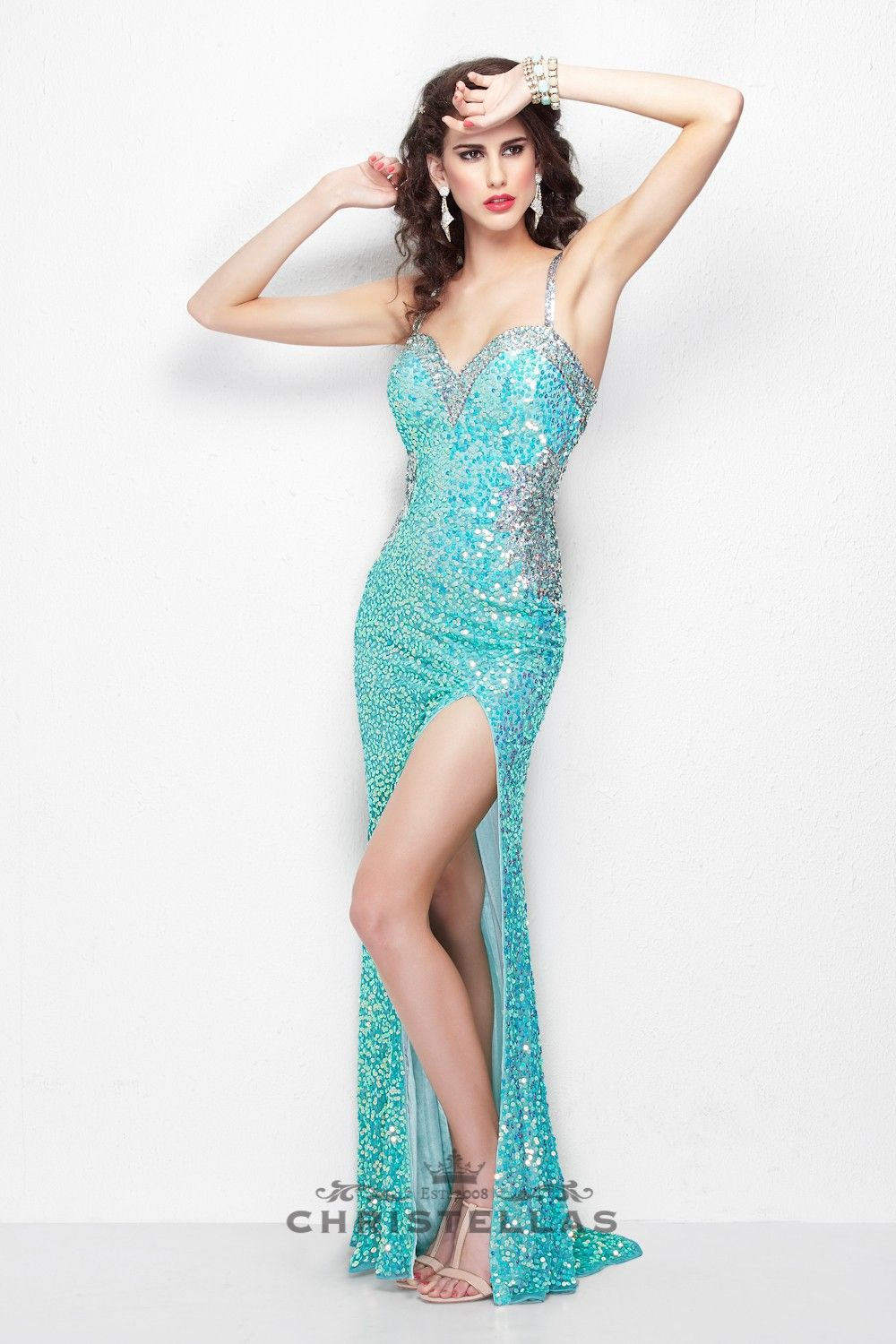 All eyes will be on you in this stunning sequined gown available ...
