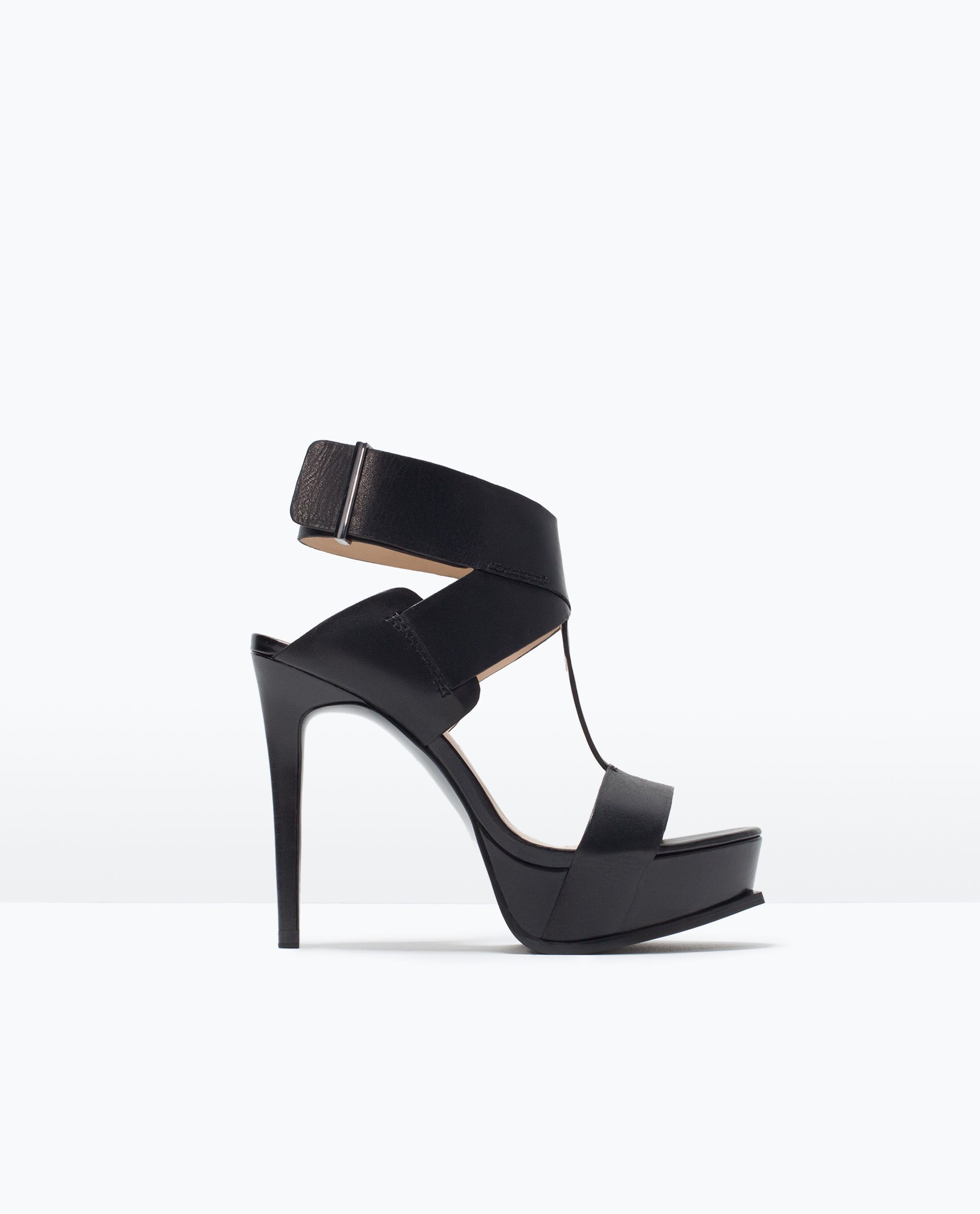 f20a89d1 Shop Women's Zara Black size 38 EU Sandals at a discounted price at  Poshmark.