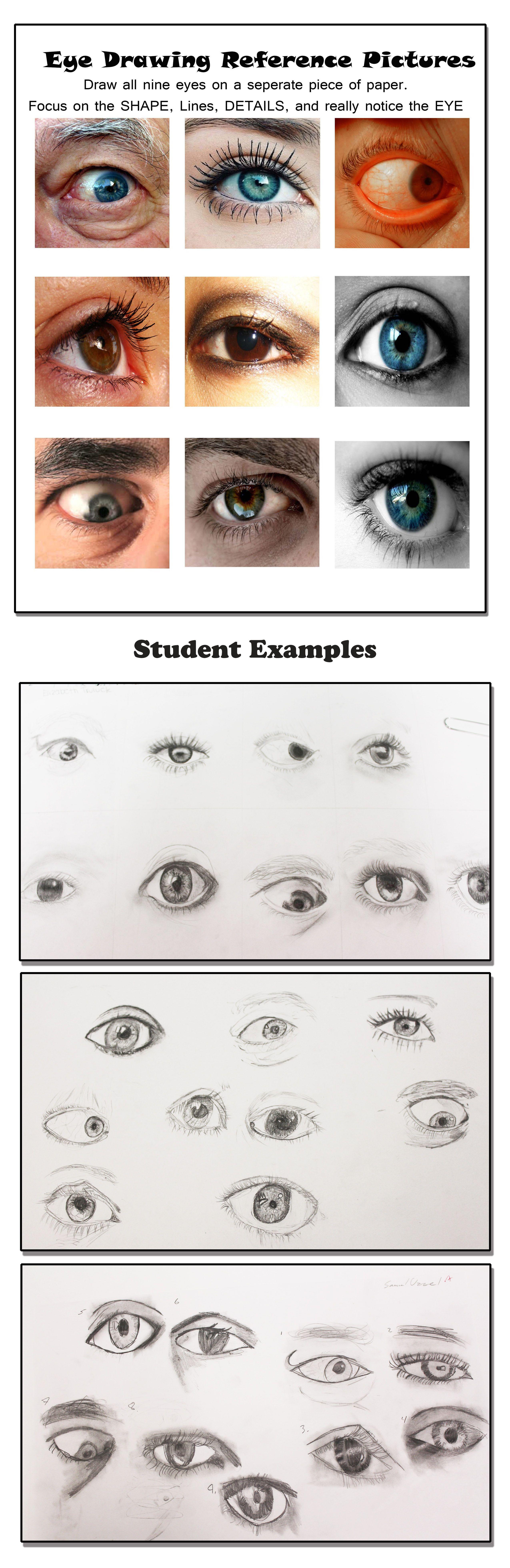 Art 1 Eye Drawings Learning To Draw The Eye Worksheet Myrtle Beach High School Mbhsart