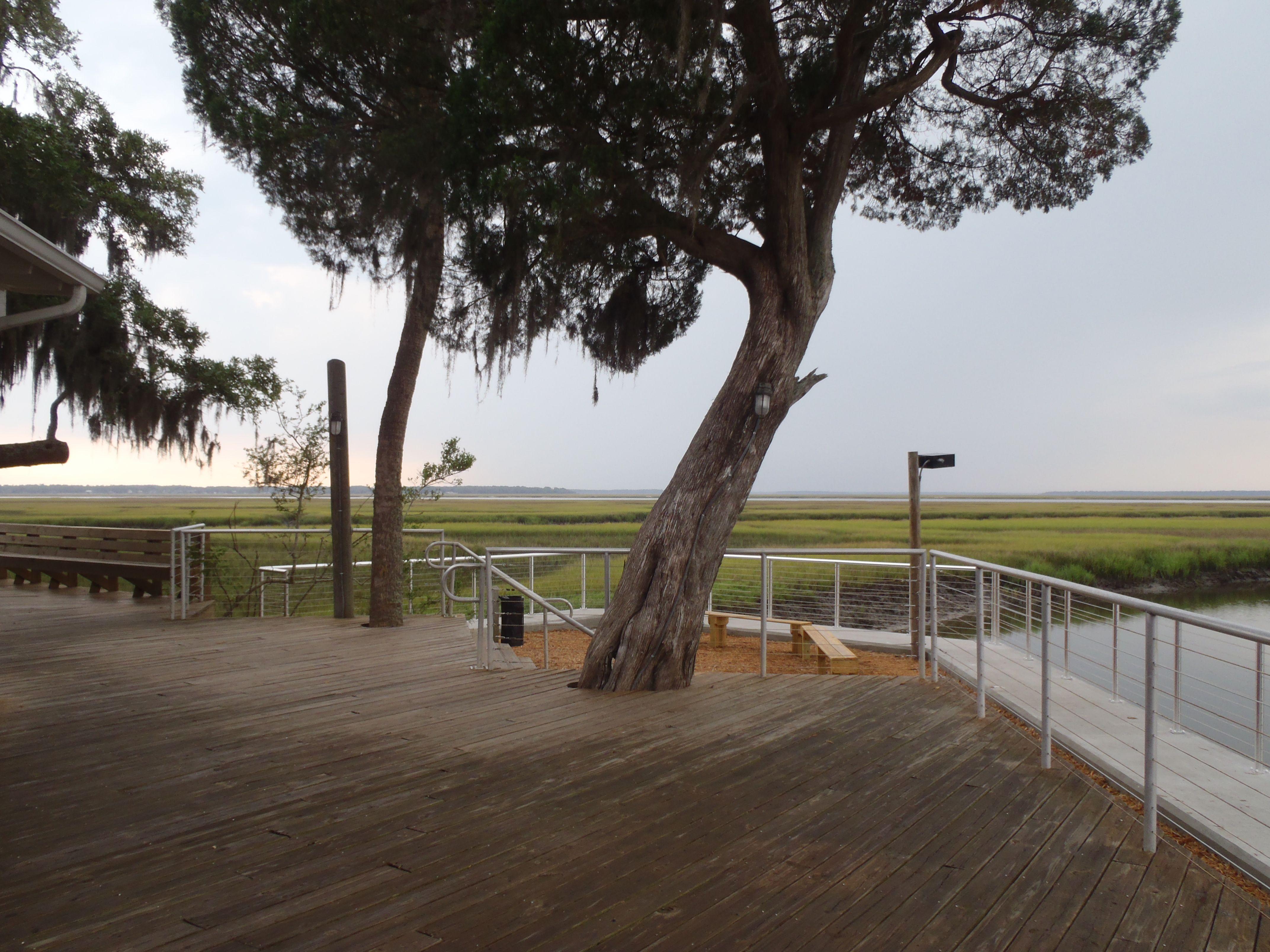 Amelia island christmas tree lighting at amelia island plantation - Wedding Deck Undecorated Walker S Landing Amelia Island Plantation
