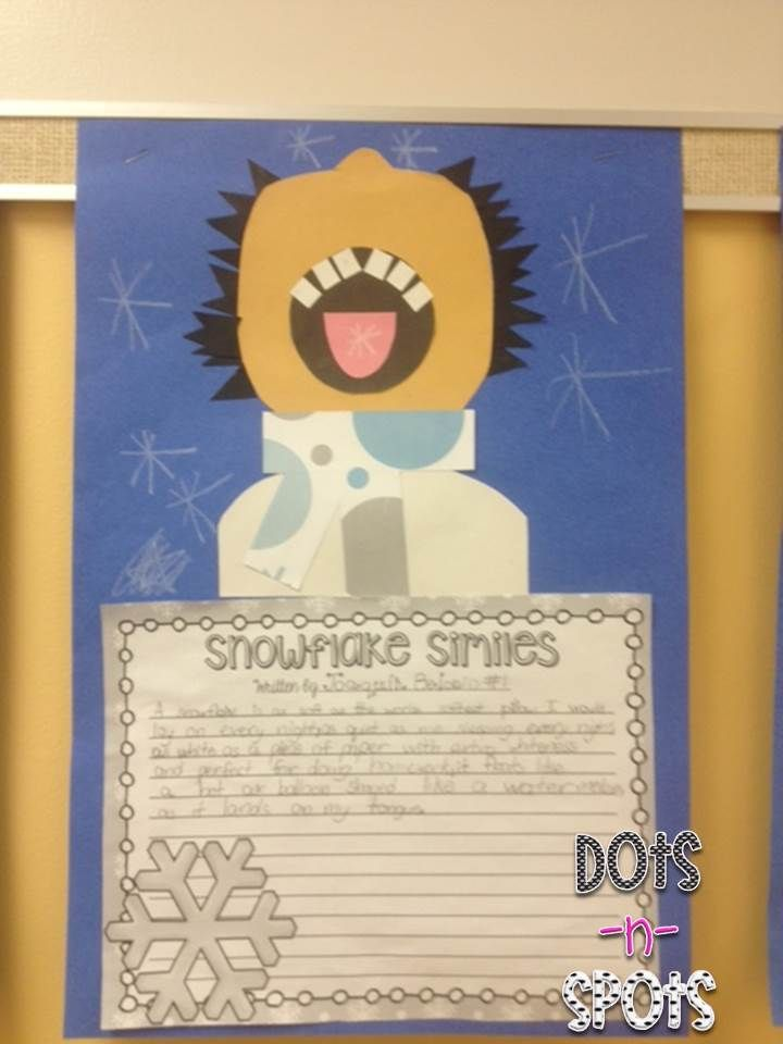 snowflake similes | January | Simile, Similes, metaphors