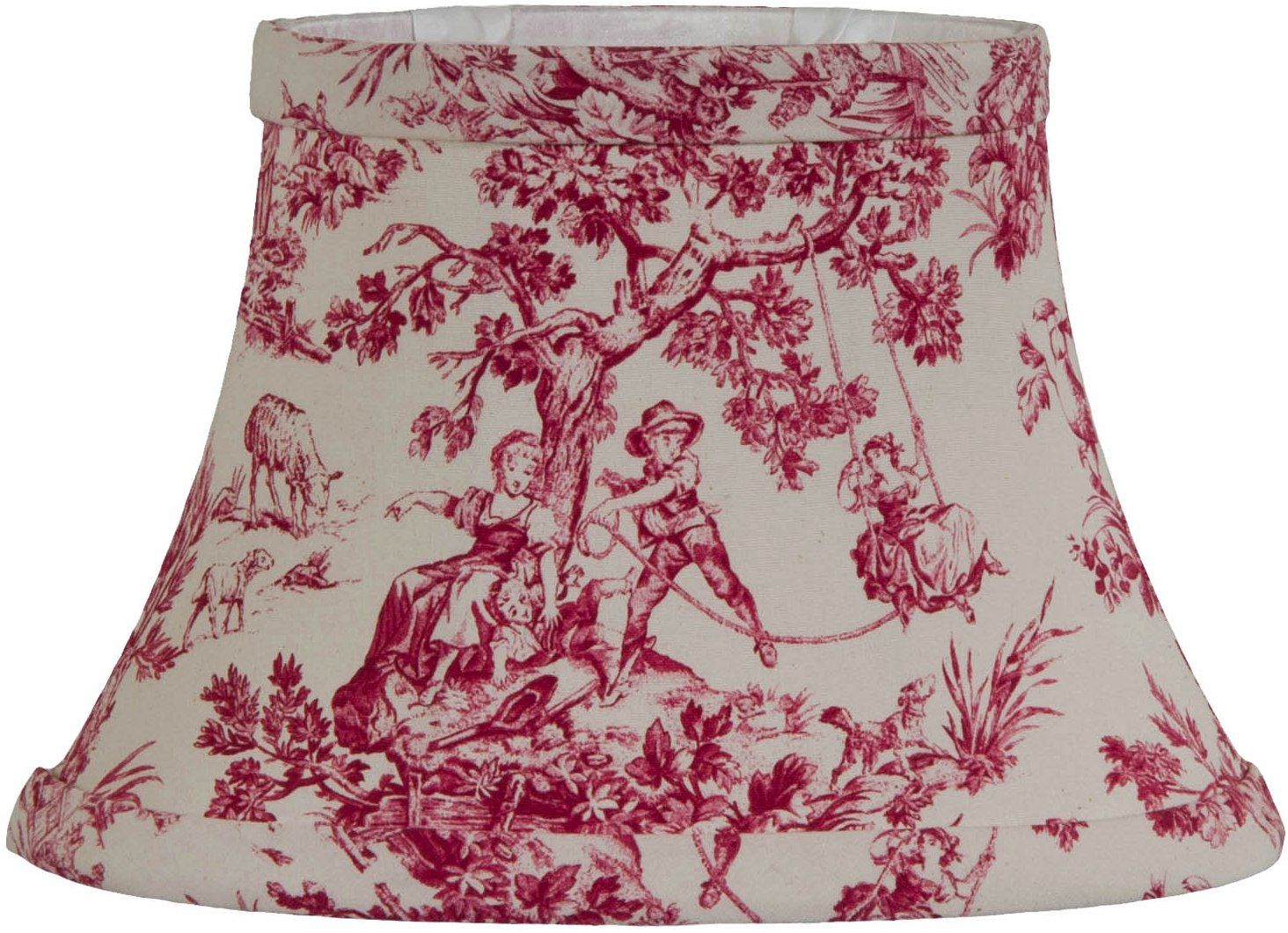 Oval Red Toile Lamp Shade Vintage Red Amp White Toile