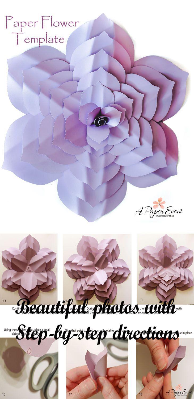 Paper Flower Template Diy Paper Flower Paper Flower Backdrop