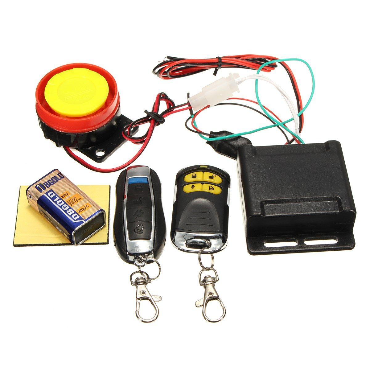 Motorcycle Motorbike Anti-theft Security Alarm Remote Control Sensor System 12V