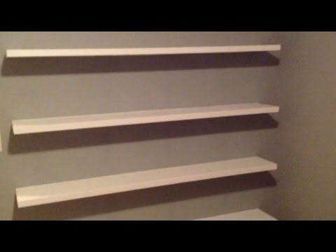 Incredible How To Build Sleek Free Floating Wall Shelves Youtube Interior Design Ideas Ghosoteloinfo