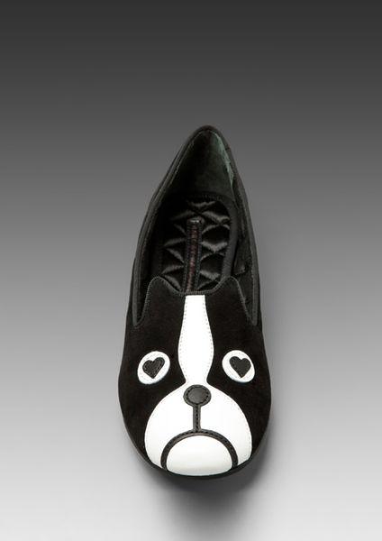 Marc By Marc Jacobs Friends Of Mine Suede Slipper in Black in Black - Lyst