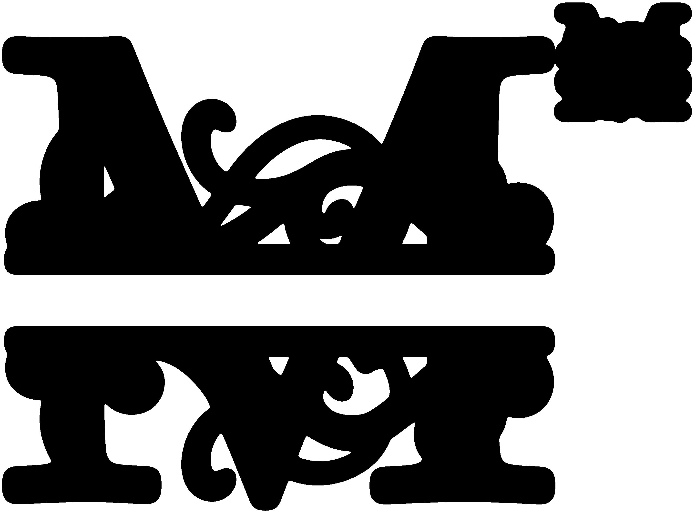 Image result for Free Split Monogram SVG Free monogram