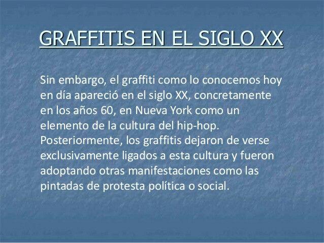 ¿Qué fue un grafitti en el Siglo XX?