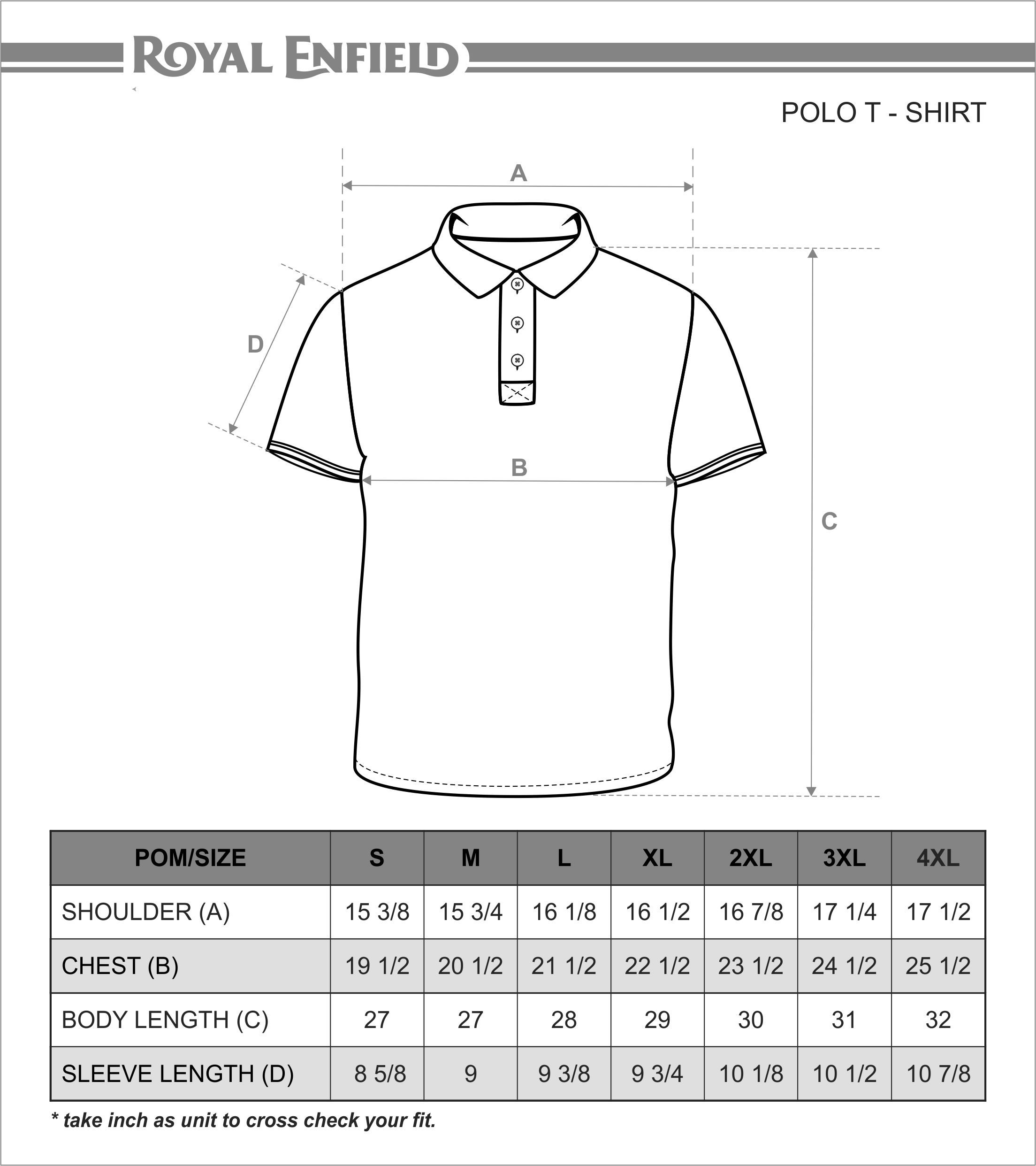 Polo shirt size chart picture google size chart